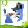Combined middle school student study desk and chair